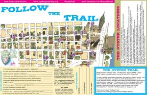 Downtown Mobile Oyster Trail Map