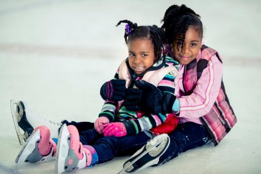 Sister ice skating